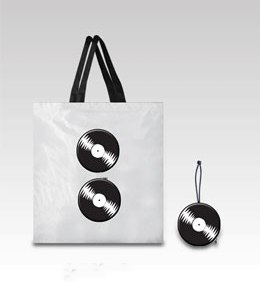 Long playing record - foldable shopping bag