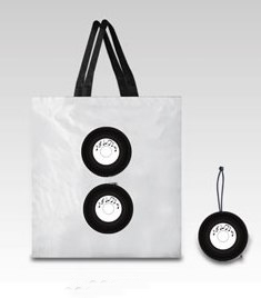 LP DISK - foldable shopping bag